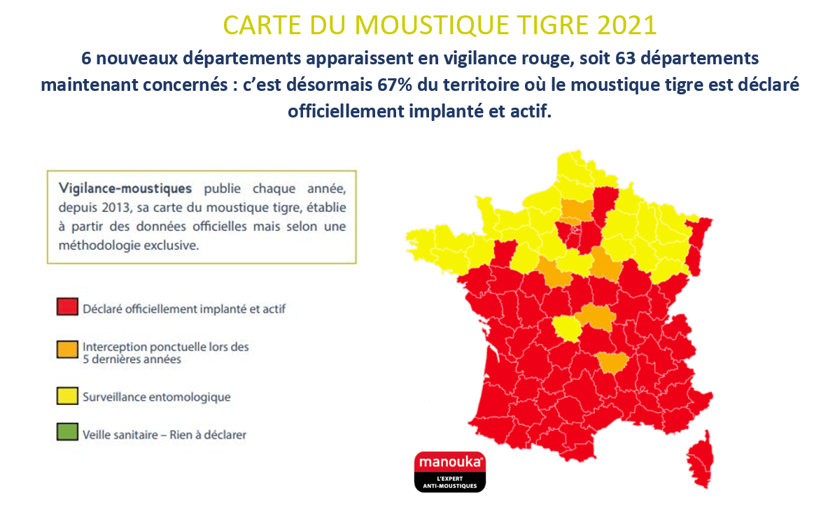 Carte moustique tigre 2021